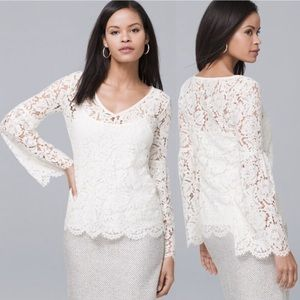 WHBM all over lace long sleeve